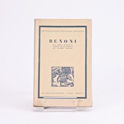 Benoni. Traduit du Norvégien par Georges Sautreau.