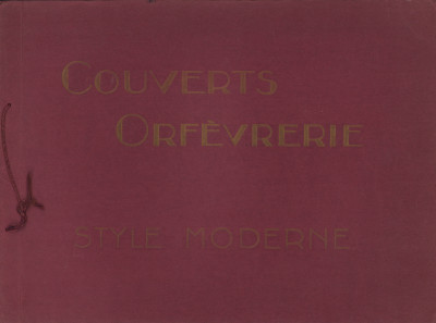 Couverts, orfèvrerie. Style moderne. Albums n° 1 et n° 2.