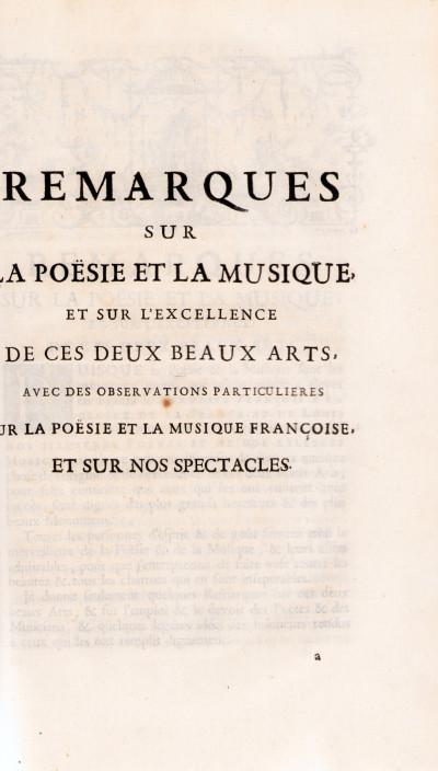 Le Parnasse françois.