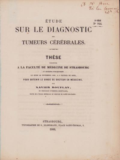 Étude sur le diagnostic des tumeurs cérébrales.