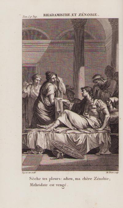Oeuvres de Crébillon, nouvelle édition, ornée de figures dessinées par Peyron, et gravées sous sa direction.