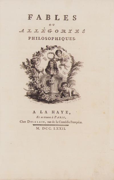 Fables ou allégories philosophiques.