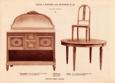 Meubles modernes. Catalogue.