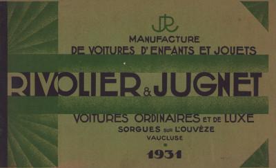 Manufacture de voitures d'enfants et jouets. Rivolier & Jugnet. Voitures ordinaires et de luxe.