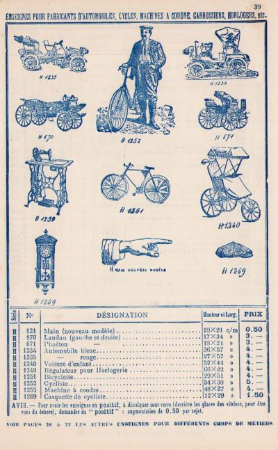 Décalcomanies industrielles. Tarif général (édition 1912).