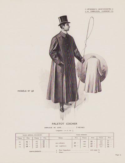 Vêtements caoutchoutés pour hommes et dames. 1er février 1914. Catalogue n° 402.
