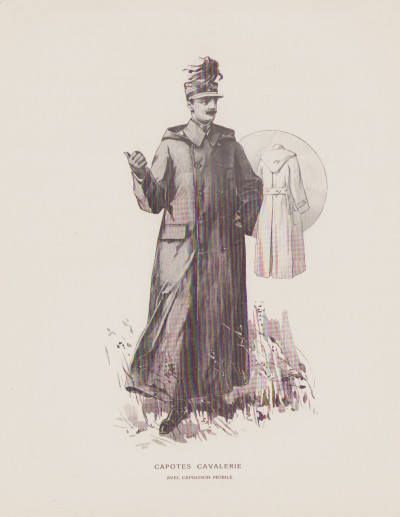 Vêtements caoutchoutés pour militaires. Catalogue n° 401.