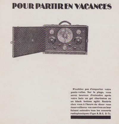 Établissement Radio P. B. Catalogue.