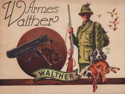 Armes Walther. Pistolets automatiques. Pistolets de signalisation. Pistolets d'alarme. Carabines automatiques. Carabines à un coup. Fusils de chasse hamerless.
