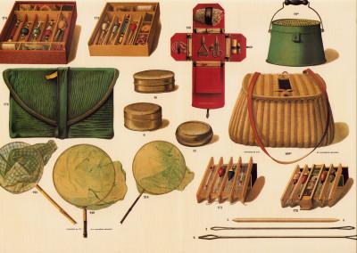 Fabrique d'ustensiles de pêche. Miroirs à alouettes. Robillard & Cie.