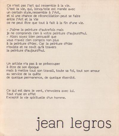 Jean Legros. 1917-1981. 4 octobre-7 décembre 1989.