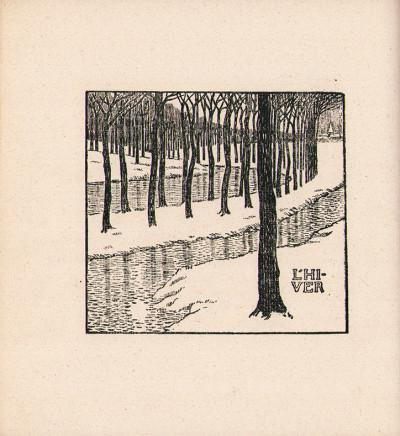 Almanach. Cahier de vers d'Émile Verhaeren. Ornementé par Théo van Rysselbergue.