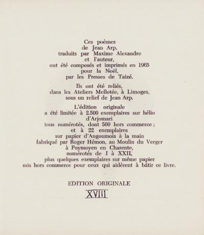 L'Ange & la Rose. Poèmes de Jean Arp & 12 dessins inédits de l'auteur.