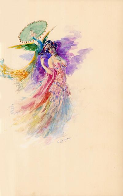La tentation de Saint-Antoine. Compositions de Georges Rochegrosse gravées en couleurs par E. Decisy.