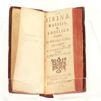 La Sirena, Marfisa, & Angelica. Poemetti di Partenio Etiro. Relié à la suite : Parafrasi Sopra i sette salmi della Penitenza de David (Venise, Ginammi, 1635).