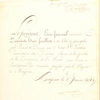 Manuscrits: Trésorerie impériale de la Grande Armée. Grand Livre 1812-Livre journal pour 1813.