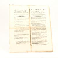Délibération du Corps municipal concernant le moment de la retraite des maisons publiques, fixé à 22 heures.
