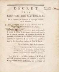 Décret de la Convention Nationale, du 28 Frimaire, an second de la République Française, une & indivisible, qui accorde un fonds de trois Millions pour les réparations & améliorations des prisons.