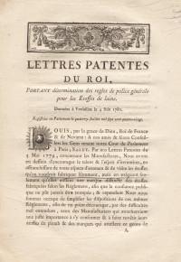 Lettres patentes du Roi, portant détermination des règles de police générale pour les étoffes de laine.