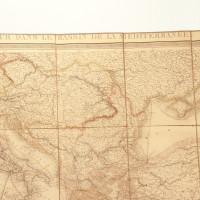 Carte de la navigation à vapeur dans le bassin de la méditerranée.