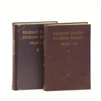 Kürschners Deutscher Gelehrten-Kalender 1940/41. 2 Bände.