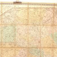 Plan de Paris à l'échelle de 2 millim. pour 25 mètres (1/12.500), indiquant les Nouveaux percements et les changements de noms de Voies publiques, avec plans supplémentaires pour les bois de Boulogne et de Vincenne.