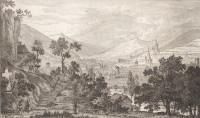 Elsässische Landschaften. Vier Originalradierungen von F. Helmsdorf. Neue Ausgabe. Text von A. Schricker.