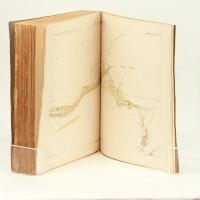 Reconnaissance au Maroc. 1883-1884. Ouvrage illustré de 4 photogravures et de 101 dessins d'après les croquis de l'auteur. Texte et cartes.
