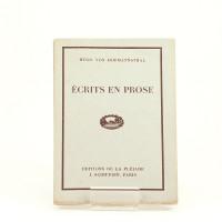 Écrits en prose. Traduction de E. H. Avant-propos de Ch. Dubos.