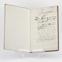Inventaire notarié d'un couple strasbourgeois en 1757, manuscrit, en allemand.