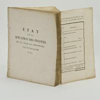 État de la situation des finances de la ville de Strasbourg à la fin de l'année 1789.