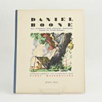 Daniel Boone. Les Aventures d'un Chasseur Américain Parmi les Peaux-Rouges. Lithographies en couleurs par Fedor Rojankovsky.