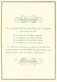 Les Cydalises et autres poèmes.