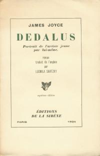 Dédalus. Portrait de l'artiste jeune par lui-même.