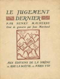 Le jugement dernier. Orné de gravures par Jean Marchand.