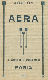 Aera. Album tarif. Aviation.