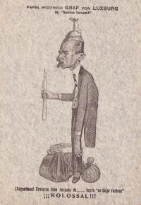 Caricatures germanophobes imprimées sur papier toilette: 2 feuilles.
